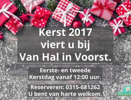 Vier dit jaar Kerst bij Restaurant Van Hal in Voorst.